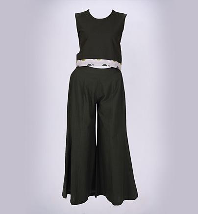 Crop tops and palazzo pants